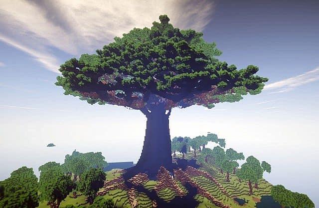 Mutter von Bäumen Gelände Minecraft Bauideen