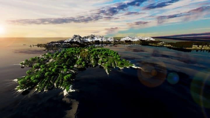 Der Ursprung landet Zorilak von Dasgnir-Gelände 8k von 8k Weltinseln 3