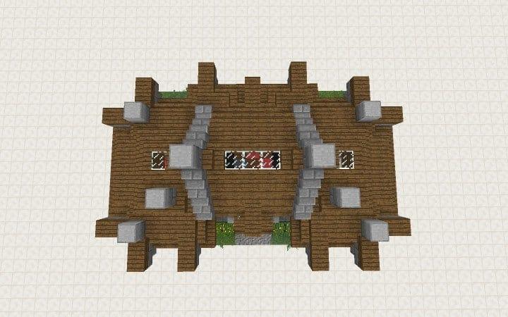 Survival House Tutorial Wie man billige Minecraft Bauideen Holz und Stein 8