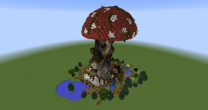 Giant Fantasy Mushroom Minecraft Gebäude Ideen Download Inspiration 2