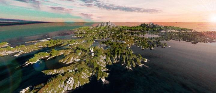 Der Ursprung landet Zorilak von Dasgnir benutzerdefiniertes Gelände 8k von 8k Weltinseln 10