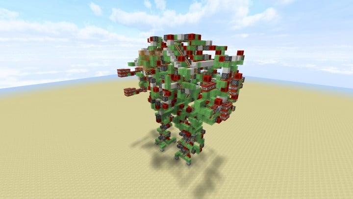 Colossus - kontrollierbarer Angriffsroboter No Command Blocks minecraft Bauideen erstaunlich 3