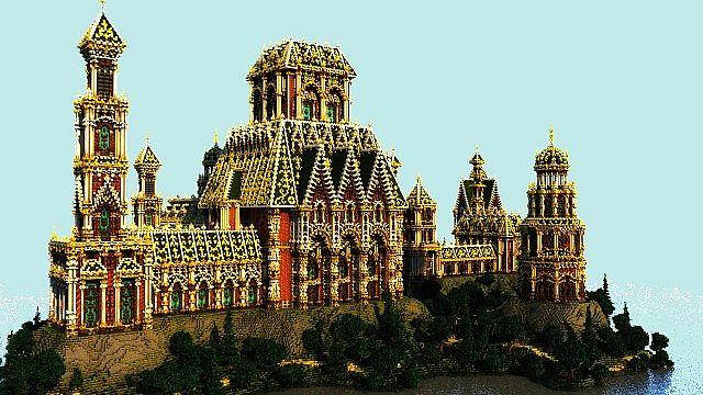 Der Palast von Daibahr bouiyait minecraft Gebäudeideen ragen hoch 4