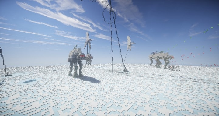 TheReawakens Tage der Kreationen Die Bridge City von Non Anor Minecraft Bauideen Download Stadt Schnee Winter Turm 11