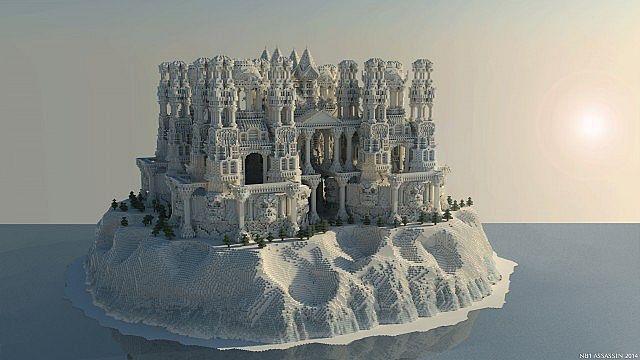 Quartz Minecraft Gebäude Ideen Schloss Insel