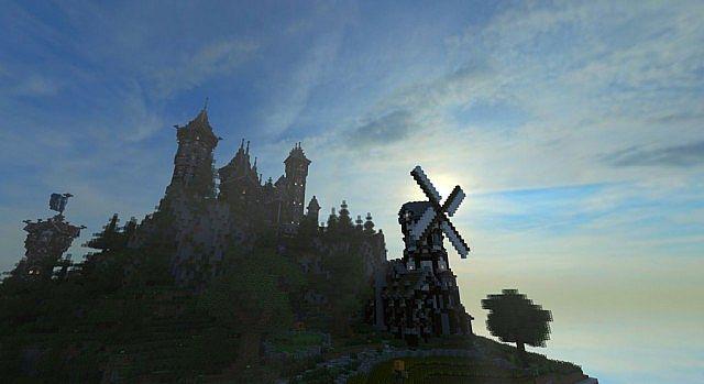 Mittelalterliche Burg und Dorf minecraft Bauideen 2
