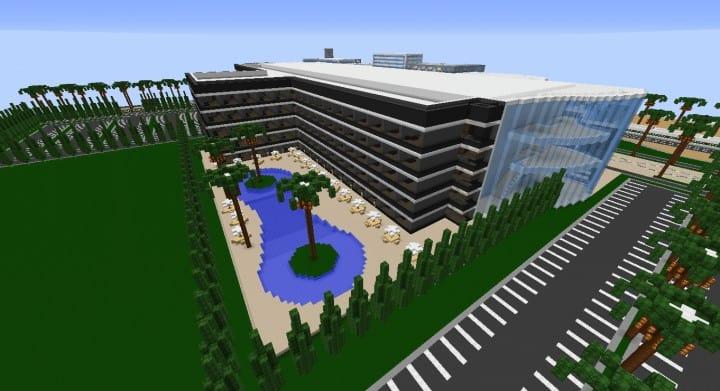 Alleron Convention Center Alleron City Minecraft Gebäude Ideen erstaunliche Büro Stadt Glas Phantasie 7