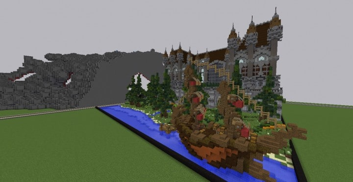 Fantasy Mansion Grundstück (Download) minecraft Bauideen mieten Wasser sparen 3