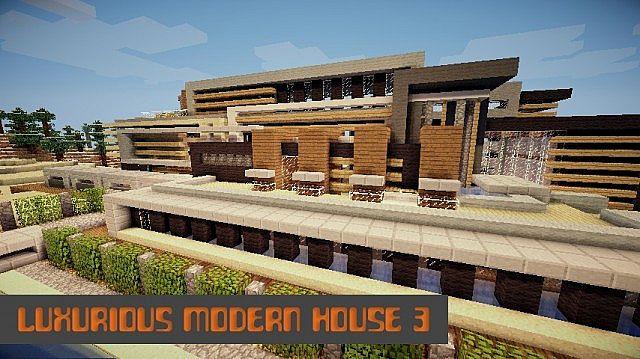 Luxuriöses modernes Haus 3 minecraft Gebäude