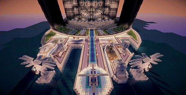 Wolkenkratzer TeamHouse-Schloss minecraft, das Ideen 4 errichtet