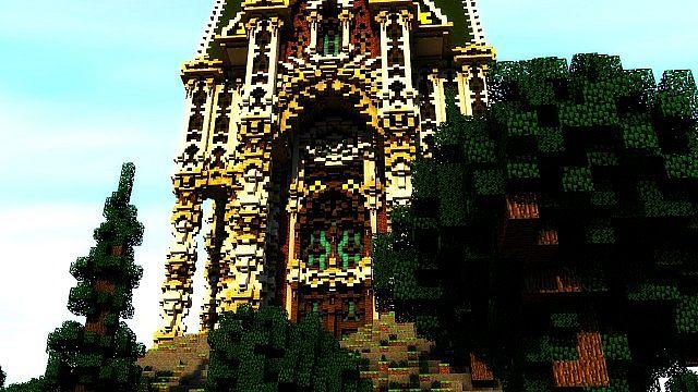 Der Palast von Daibahr bouiyait minecraft Gebäudeideen ragen 12 hoch