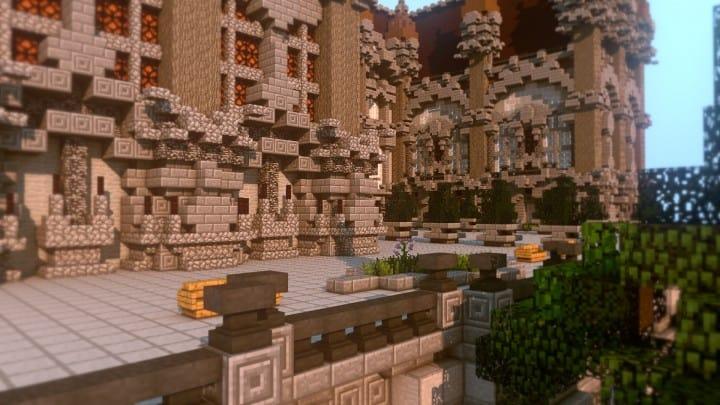 Fantasy Mansion Grundstück (Download) minecraft Bauideen mieten Wasser sparen 2