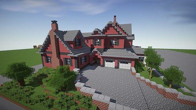 Rote alte Mansion Minecraft, die Ideen 2 errichtet