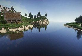 Mittelalterliches Haus auf einer kleinen Insel