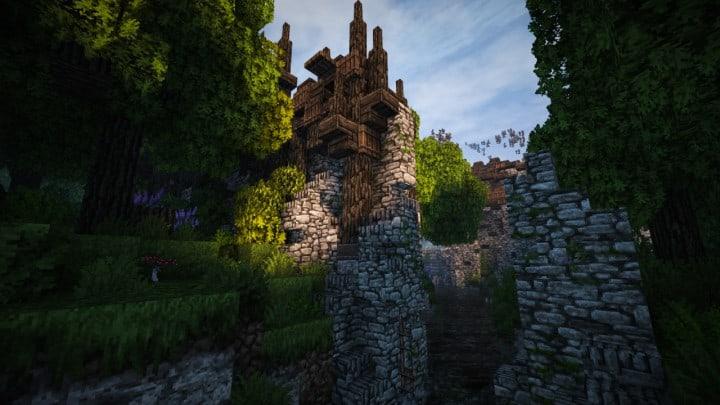 Stadtfelsen eine mittelalterliche Burg Minecraft Bauideen Download Berge 14