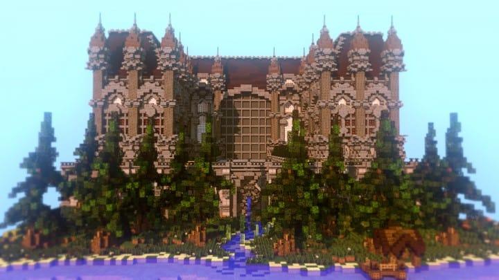Fantasie Herrenhaus Grundstück