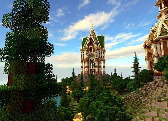 Der Palast von Daibahr bouiyait minecraft, das Ideenbauturm 9 errichtet