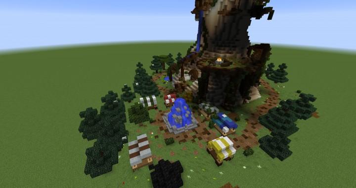 Giant Fantasy Mushroom Minecraft Gebäude Ideen Download Inspiration 3
