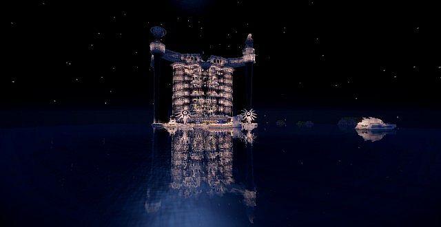 Wolkenkratzer TeamHouse-Schloss minecraft Gebäudeideen 2