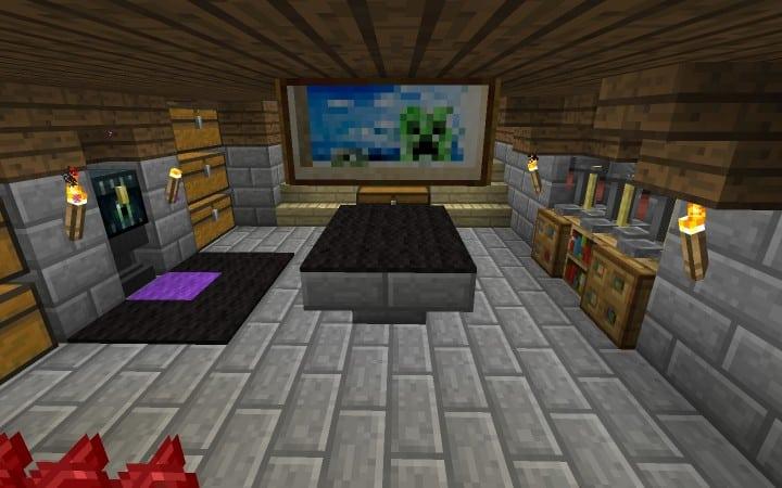 Überlebens - Haus - Tutorial wie man billige Minecraft Bauideen Holz und Stein 16