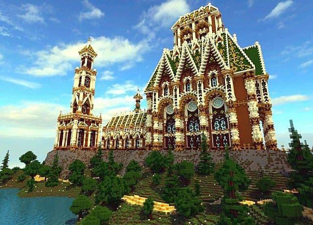 Der Palast von Daibahr bouiyait minecraft Gebäudeideen ragen hoch 6