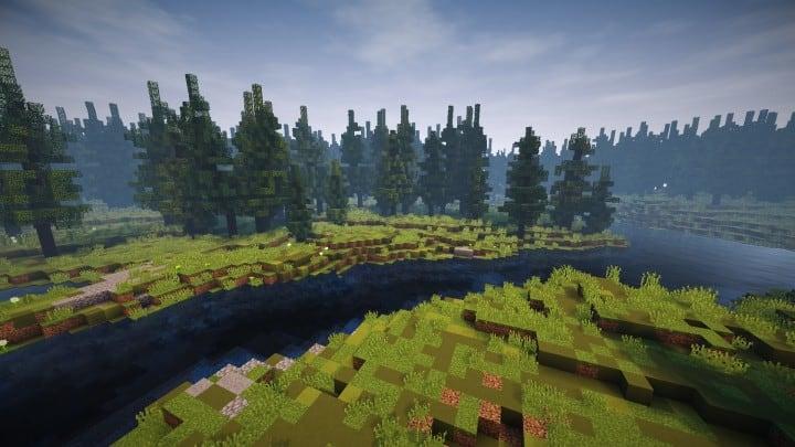 Verlassene mittelalterliche Burg Minecraft Gebäude Blaupausen Download Fluss 12