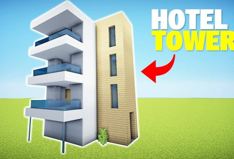 Minecraft: Wie baue ich ein modernes Hotel / Appartement Tower – Easy House Tutorial