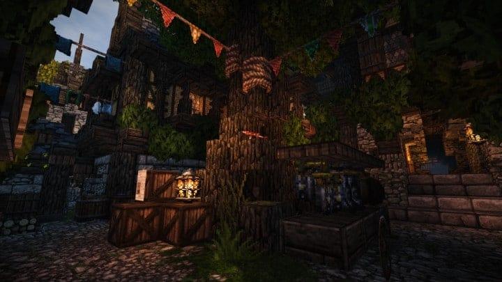 Stadtfelsen eine mittelalterliche Burg Minecraft Gebäude Ideen download mountains11