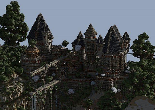 Alte Schloss-Ruinen minecraft Gebäudeideen