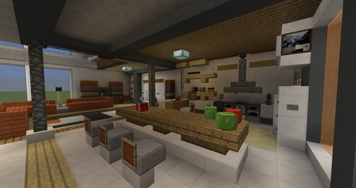 Stadt Vibe | Retro modernes Penthouse - Minecraft Welt
