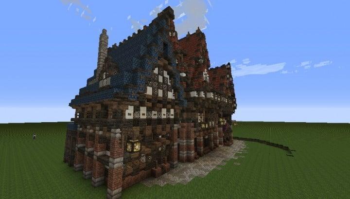 Drei merovianische Häuser minecraft building ideas download mittelalterlich 5