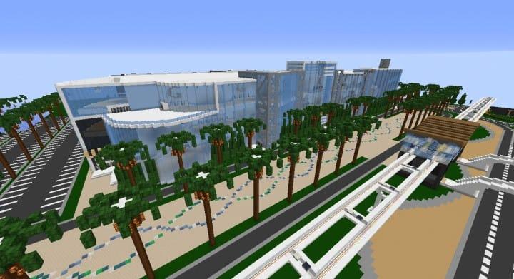 Alleron Convention Center Alleron City Minecraft Gebäude Ideen erstaunliche Büro Stadt Glas Phantasie 4