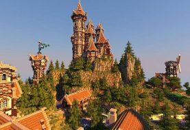 Mittelalterliches Schloss und Dorf