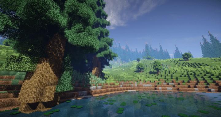 Hiraen 2k x 2k Gelände hohe Kiefern benutzerdefinierte erstaunliche Minecraft Bau Ideen Welt Maler Welt Maschine 7