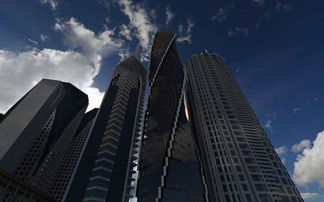 Twisting Tower minecraft Stadt Ideen Gebäude 2