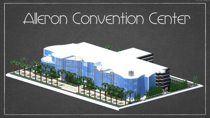 Alleron Convention Center Alleron City Minecraft Gebäude Ideen erstaunliche Büro Stadt Glas Phantasie 2