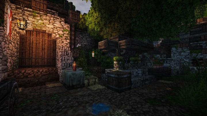 Stadtfelsen eine mittelalterliche Burg Minecraft Bauideen download mountains9