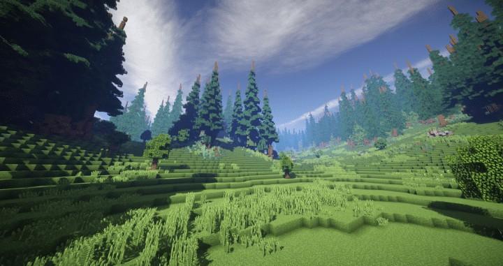 Hiraen 2k x 2k Gelände hohe Kiefern benutzerdefinierte erstaunliche Minecraft Bau Ideen Welt Maler Welt Maschine 6