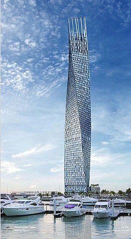 Verdrehender Turm minecraft Stadtideengebäude 7