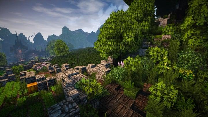 Stadtfelsen eine mittelalterliche Burg Minecraft Bauideen Download Berge 13