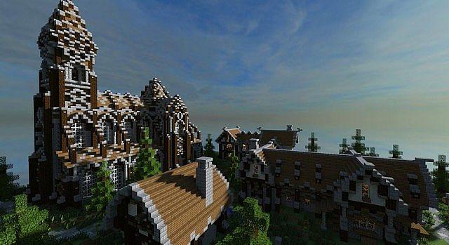 Mittelalterliche Burg und Dorf Minecraft Bauideen 11