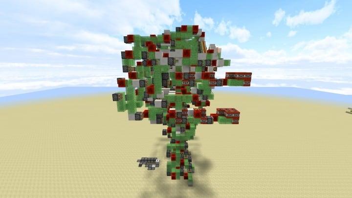Colossus - Kontrollierbarer Angriffsroboter No Command Blocks minecraft building ideas amazing 5