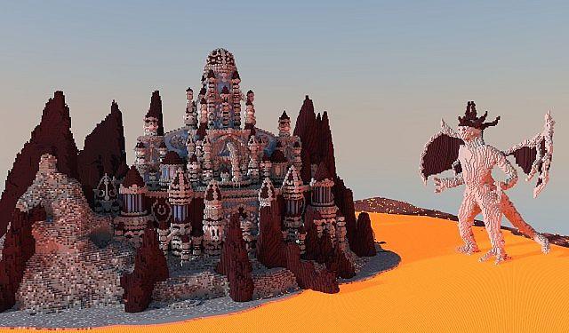 Eine Reise durch die Hölle Minecraft building ideas castle 3