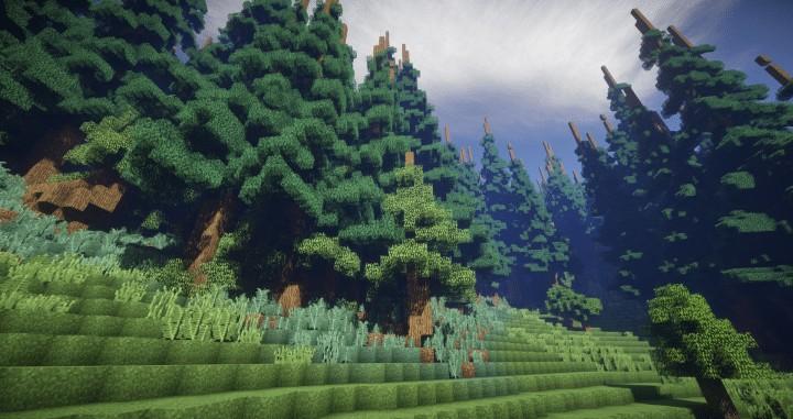 Hiraen 2k x 2k Gelände hohen Kiefern benutzerdefinierte erstaunliche Minecraft Bau Ideen Welt Maler Welt Maschine 8