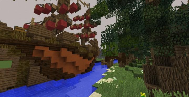 Fantasy Mansion Grundstück (Download) minecraft Bauideen mieten Wasser sparen 6
