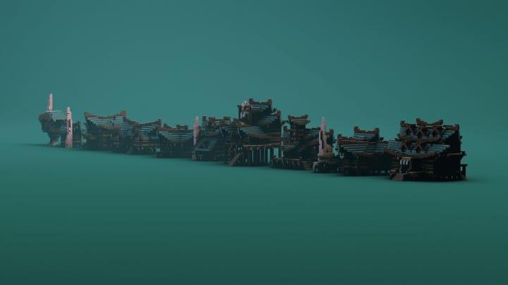 Sumpf-Häuser, die Bündel errichten