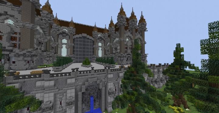 Fantasy Mansion Grundstück (Download) minecraft Bauideen mieten Wasser sparen 4