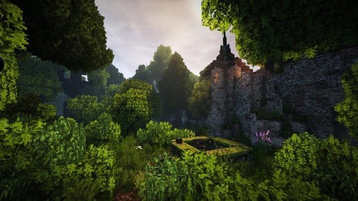 Stadtfelsen eine mittelalterliche Burg Minecraft Gebäude Ideen Download Berge 05