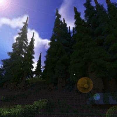 Hiraen 2k x 2k Gelände hohe Kiefern benutzerdefinierte erstaunliche Minecraft Gebäude Ideen Welt Maler Welt Maschine 9