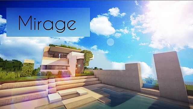 Mirage Luxus moderne Haus Minecraft Gebäude Ideen